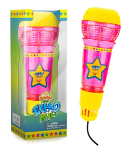 Pink and yellow Echo Mic
