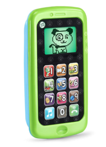 Green color Leapfrog count smartphone