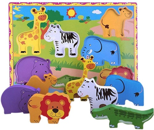 chunky puzzle with different animals