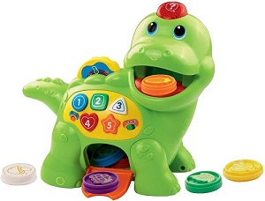 VTech Chomp and Count Dino-green color