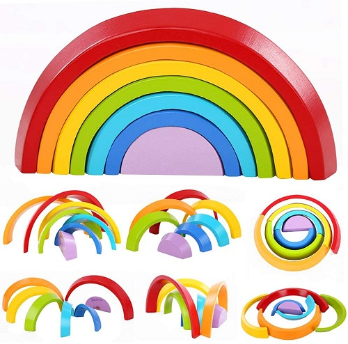 rainbow stacking game