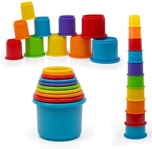 rainbow stacking nesting cups