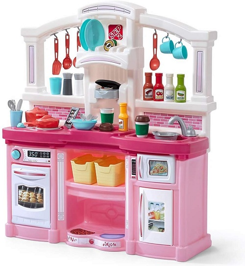 Best Kitchen Playsets For Toddlers-Step2 Fun with Friends Kitchen Pink