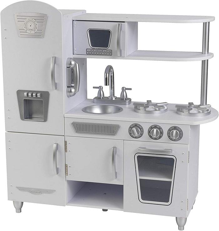 Best  kitchen  playsets For Toddlers-KidKraft White wooden Vintage Kitchen