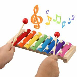Benefits of musical instruments for toddlers-drum-Xylophone