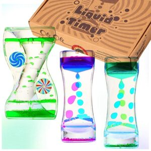 Toys for hyperactive toddlers-3 pieces liquid motion bubbler