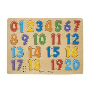 counting toys for 2 year olds- Melissa & Doug Numbers Sound Puzzle