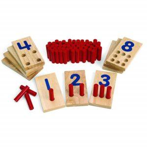 counting toys for 2 year olds-Peg number boards