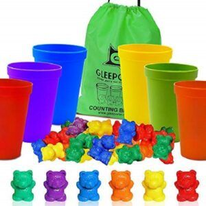 counting toys for 2 year olds-counting bears wth sorting cups