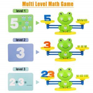 counting toys for 2 year olds- frog balance counting toys