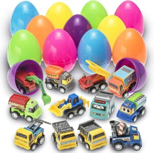 Easter toys for toddler boys-Easter eggs filled with vehecles
