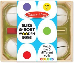 Easter toys for tslice and sort wooden eggs packageoddler boys-slice and sort wooden eggs