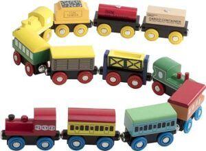 Play22 12pcs wooden trains