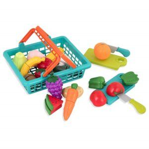 educational toys for 2 year olds-Pretend cutting play food set