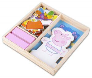 educational toys for 2 year olds-peppa pig magnetic dress up puzzle