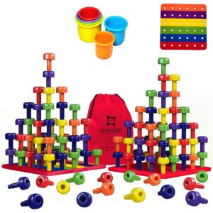 educational toys for 2 year olds-stacking peg board toy set