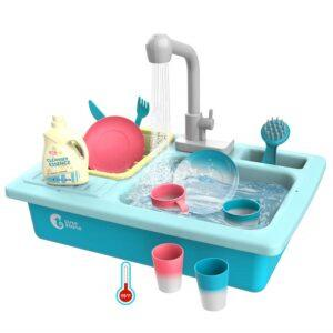 pretend toys for toddlers-blue kitchen sink toys