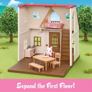 Calico Critters Red Roof Cozy Cottage - remove the second floor display