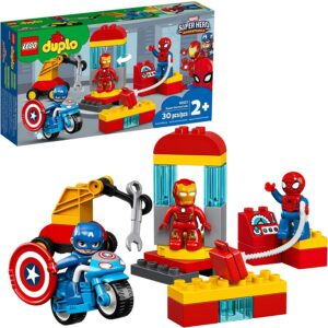 Duplo Legos for toddlers-Super Heroes Lab with box