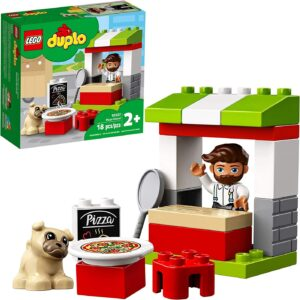 Duplo Legos for toddlers-Town Pizza Stand
