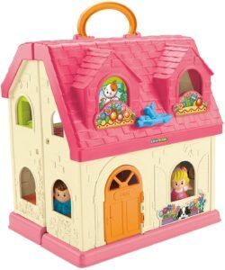 Fisher-price little people home with sounds-folded