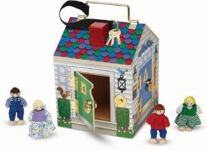 Melissa & Doug Doorbell with 4 small dolls