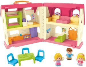 Top rated dollhouses for toddlers-Fisher-price little people home with sounds