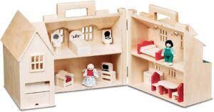 Melissa & Doug Fold & Go Dollhouse unfold