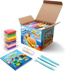 DIY craft kits for kids-Air Dry Modeling Clay
