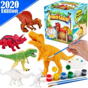 DIY craft kits for kids-Dinosaurs Arts Painting Kit with box package