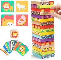 Best board games for 2 years old-Wooden Blocks Stacking Board Games