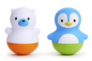 Munchkin Bath Bobbers toy-2 pieces-white and blue