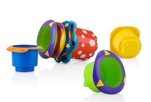 Nuby Bath Stacking Cups-5 pieces