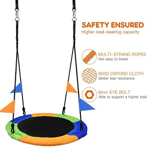 outdoor play equipment for toddlers-Saucer Tree Swing