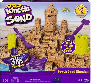 Kinetic sand kingdom play set