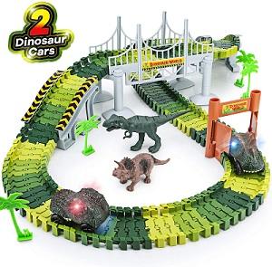 Dinosaur World Road Race Playset