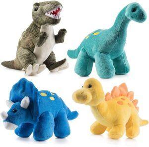 Prextex4 pieces Plush Dinosaurs Set