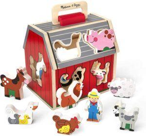 Melissa & Doug Take Along Sorting Barn set