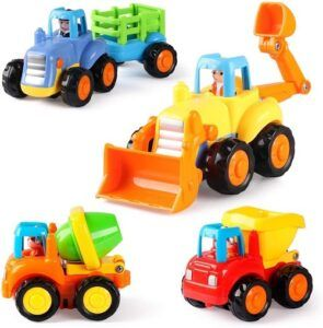 Friction Powered Cars Construction Vehicles Toy Set