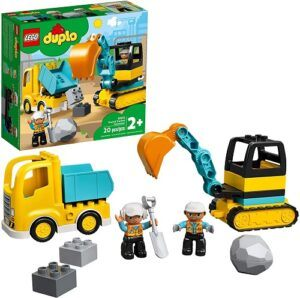 LEGO DUPLO Construction Truck & Tracked Excavator 10931 Building Site Toy