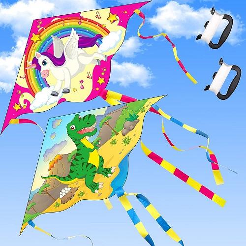 Dinosaur kite and Unicorn kite