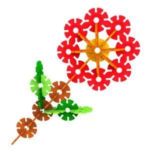 build in flower shape - brain flakes