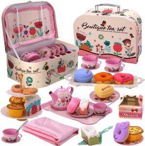 flower Tea Party Set for Little Girls