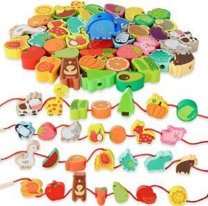 BMTOYS Montessori Educational Threading Toys