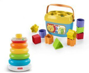 Fisher-Price Rock-a-Stack and Baby's First Blocks Bundle